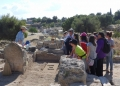 Kiato students toured the Frankish area and got to see 2015 Excavations in progress. Photo: Rossana Valente.