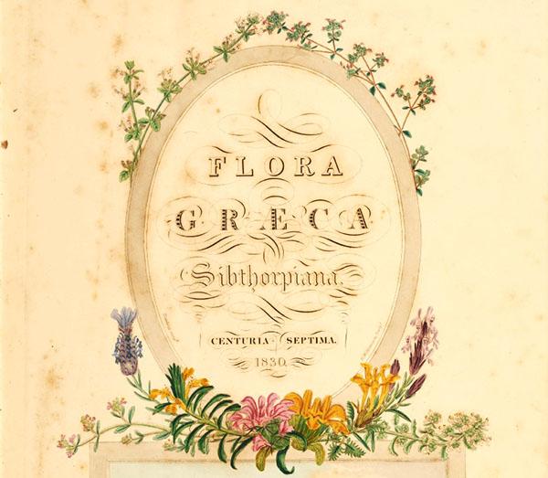 flora graeca titlepage